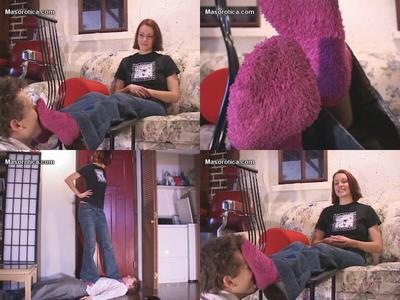 Nadine's fluffy sock worship